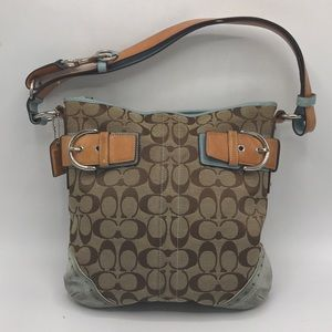 Coach Leather, Canvas & Suede Crossbody Bag
